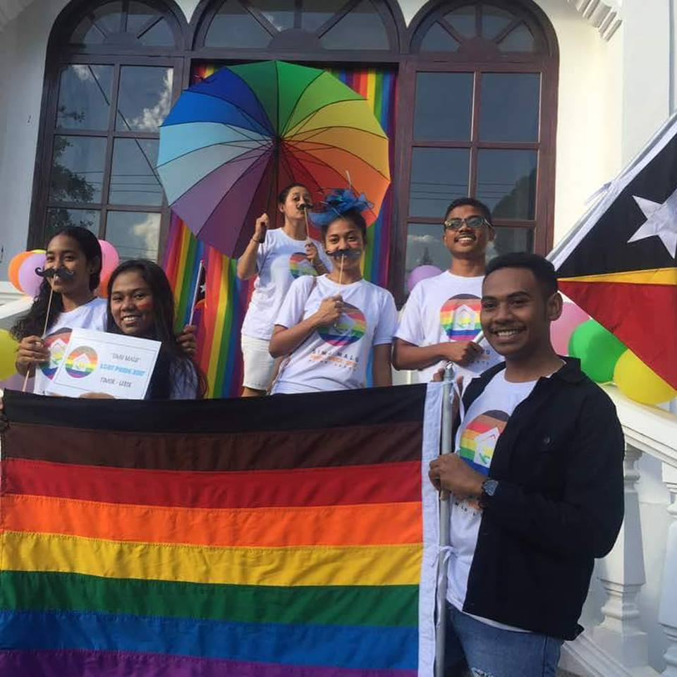 Team- Timor Leste Youth for Peace supporting LGBT PRIDE 2k17