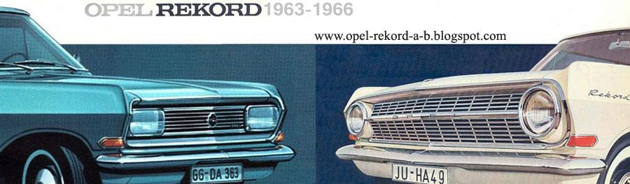 Opel Rekord A & B