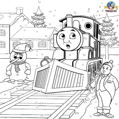 Frosty the snowman coloring pages winter worksheets printable Christmas picture of Thomas & friends