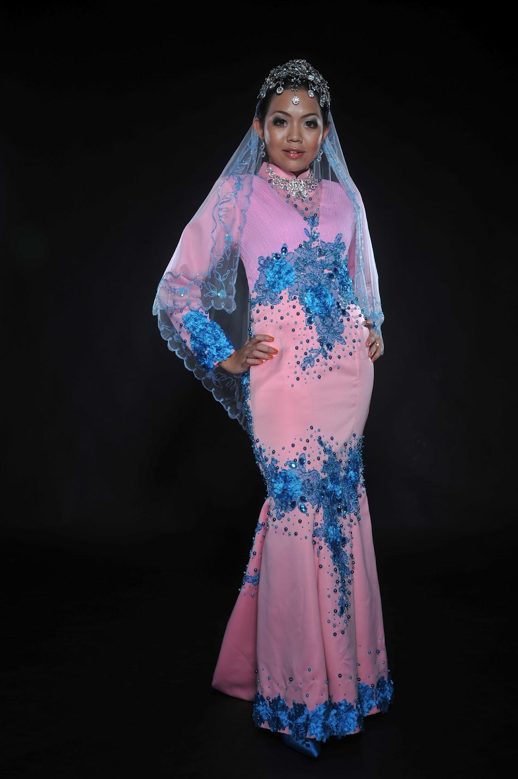 Sri Inai Andaman: koleksi baju pengantin ~ PINK BIRU ~