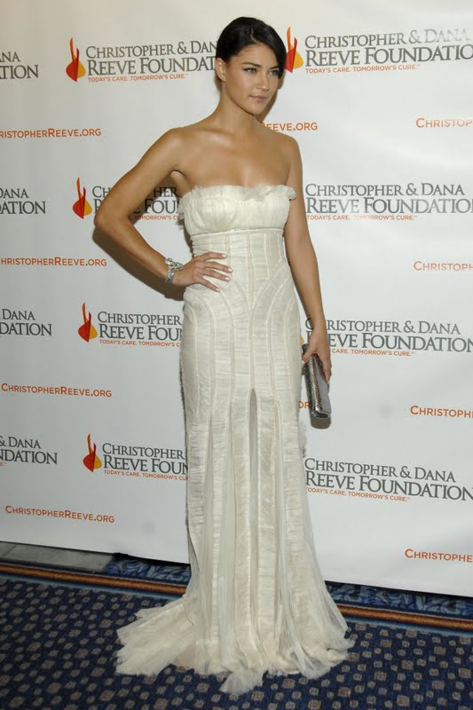 Jessica Szohr in White Dress
