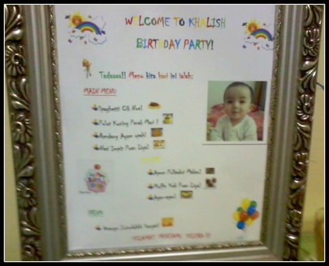 Menu Birthday