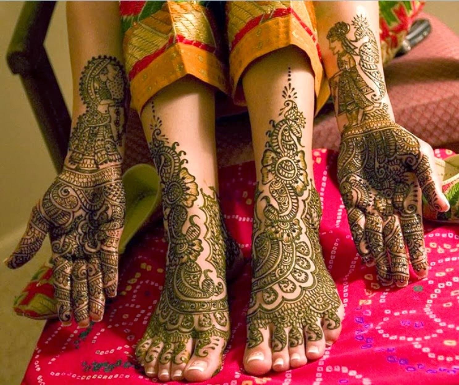 bridal mehndi designs: new bridal feet and hand mehndi designs