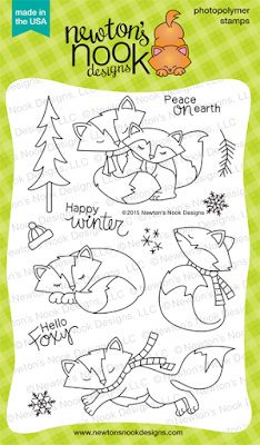 Fox Hollow - Winter Foxes Photopolymer Stamp Set by Newton's Nook Designs