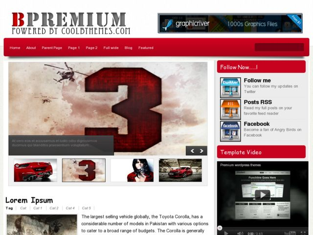 Bpremium Blogger Template