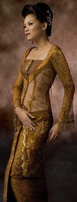 kebaya fashion indonesia brown