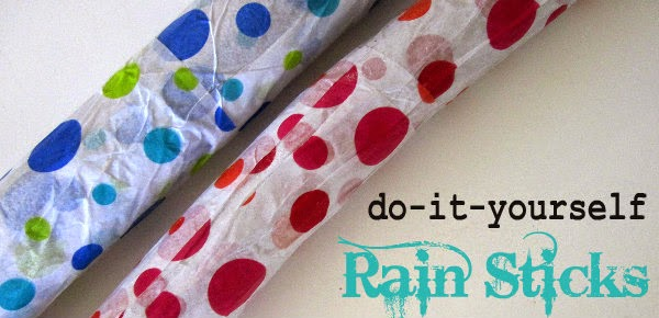Make your own rainstick munchkins and mayhem for Easy rain stick craft