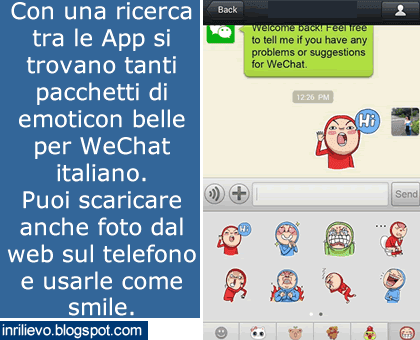 emoticon wechat italiano