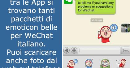 in rilievo emoticon per wechat italiano