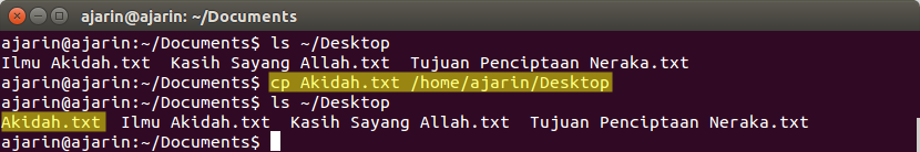 Manajemen File dan Direktori Linux - cp