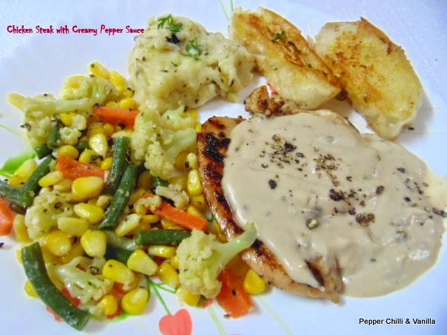 Chicken Steak With Creamy Pepper Sauce Pepper Chilli And Vanilla,What Do Pet Mice Eat
