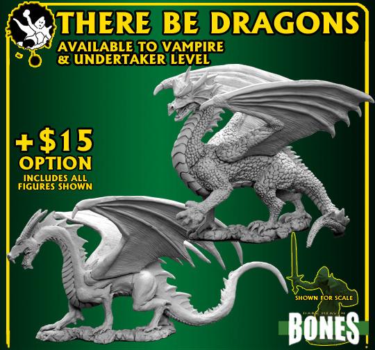 Reaper Bones Kickstarter Campaign Bonus Dragons