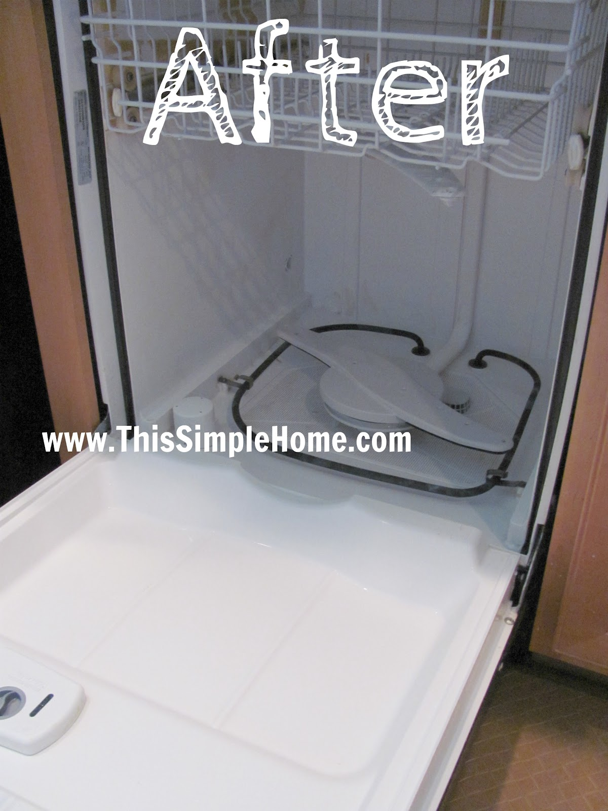 How Do I Clean My Dishwasher This Simple Home How To Clean Brown Stains In Dishwasher