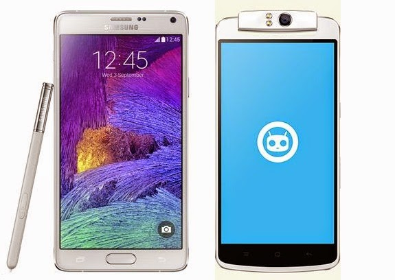 Samsung Galaxy Note 4 vs Oppo N1