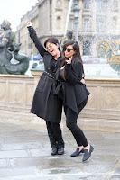 Kim Kardashian with her mom
