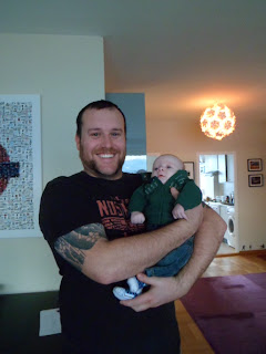 Chris and his new nephew Oliver