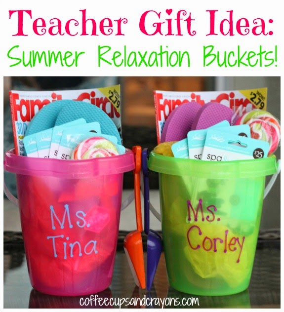 Summer Relaxation Buckets for Teachers //  WorthingtonLower.com