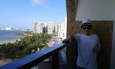 Vista da Praia de Meireles desde o Hotel Praiano