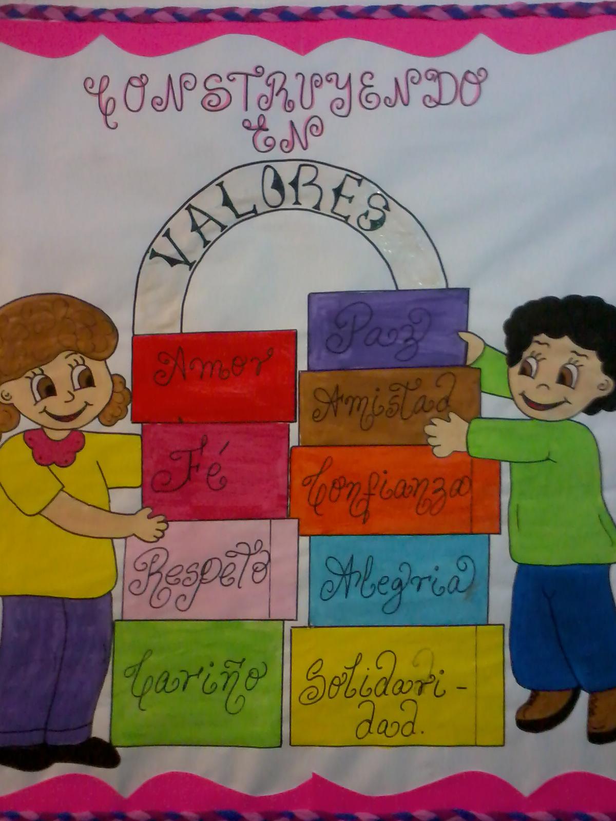 Cartelera de los valores imagui for Modelos de carteleras escolares