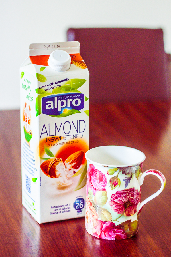 Alpro Almond Milk and Floral Mug