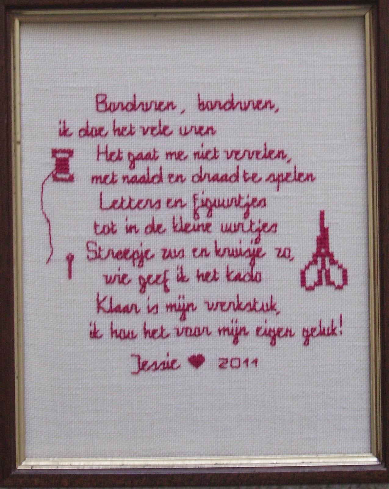 Jessie S Handwerkclub Gedicht