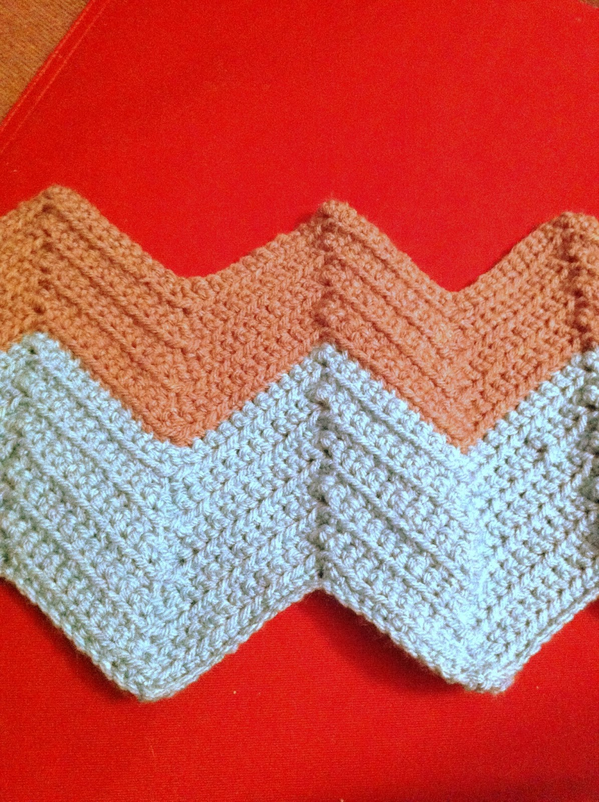 Crochet Stitches Chevron : ... your desired length! Then you will have a beautiful chevron blanket
