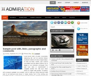 Admiration Blogger Template
