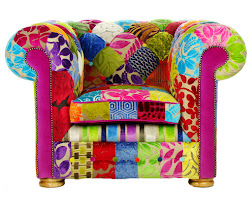 Poltrona Chesterfield inglese Patchwork 1 COLLINS & COOPER