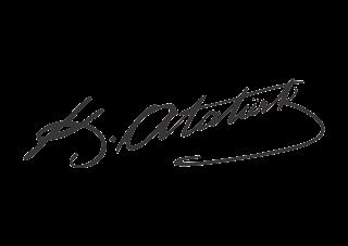 Ataturk (Black White Design) Logo Vector download free
