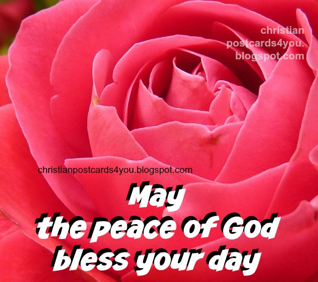 Christian free Card. Good christian wishes for facebook friends, free christian image, peace of God