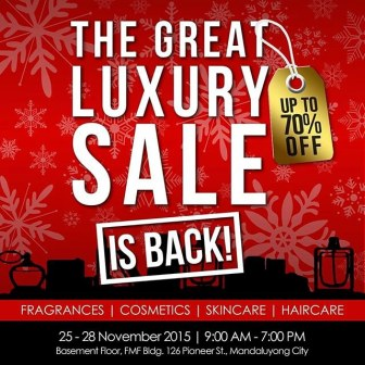 Check Out The Great Luxury SALE On November 25   28, 2015 From 9am 7pm At  FMF Bldg Pioneer Street In Mandaluyong City. Enjoy Up To 70% OFF On All  Luxury ...