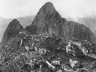 The first photograph upon discovery of Machu Piccu, 1912