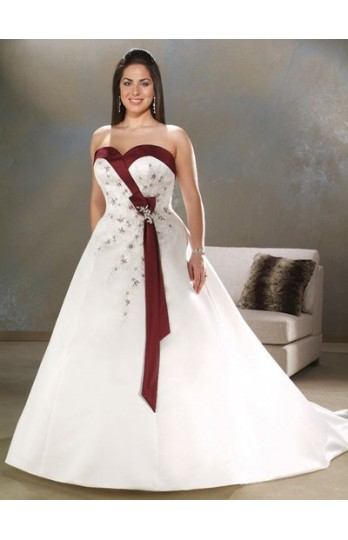 Sayumi plus size wedding dresses with color for Plus size wedding dress with color