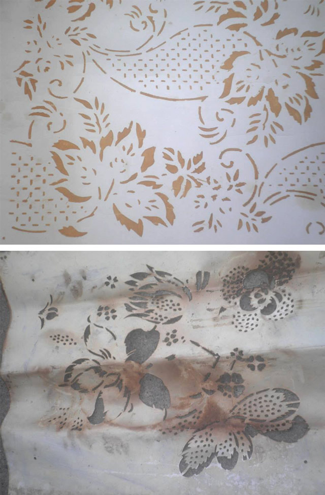 decorazione, stencil, vintage, patterned paint rollers, starinski šabloni, mustre