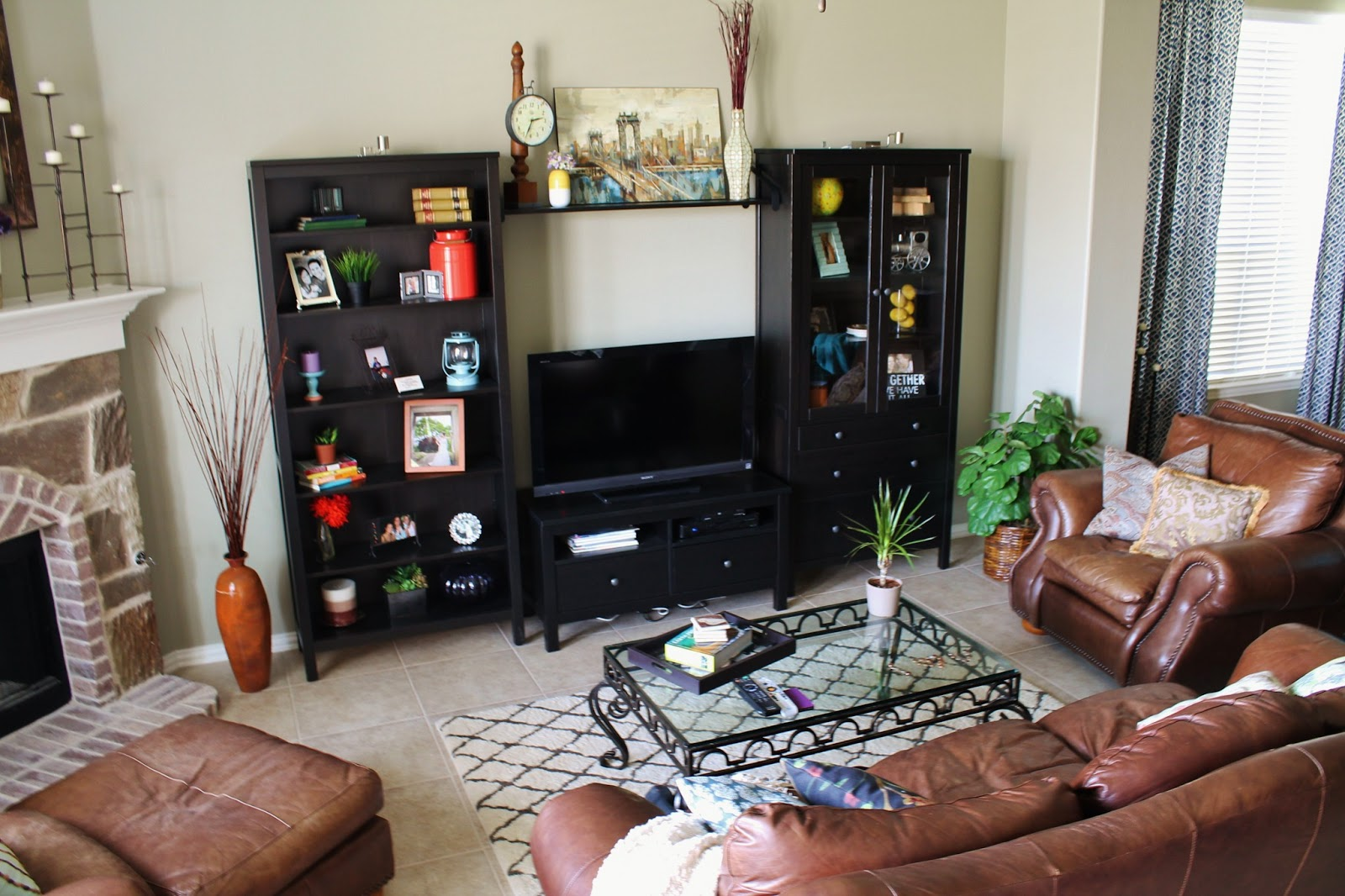 Ikea hemnes entertainment center - We Went With A Combination From The Hemnes Family At Ikea Since The Pieces Come Separately You Can Sortof Custom Make How You Want It To Look