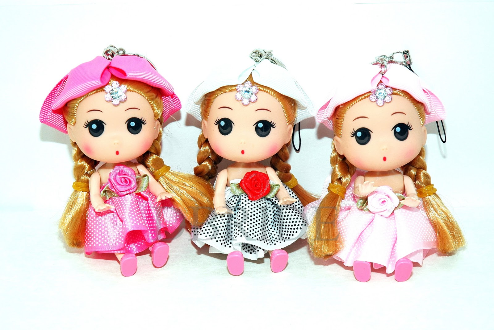 Girls doll key chains