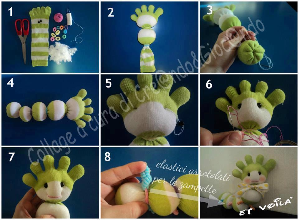 Как сделать игрушку гусеницу