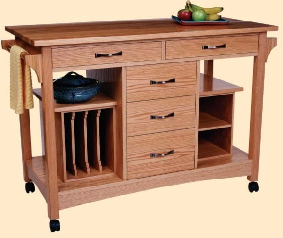 Kitchen Island Mobile Workstation Cart