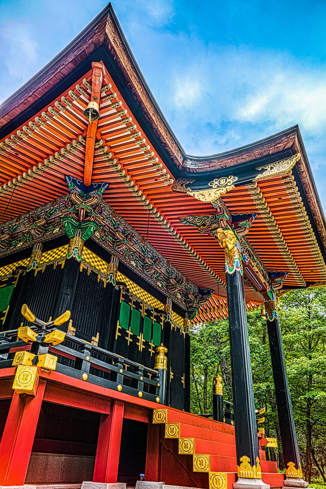 東京都指定有形文化財、旧自証院霊屋のHDR写真