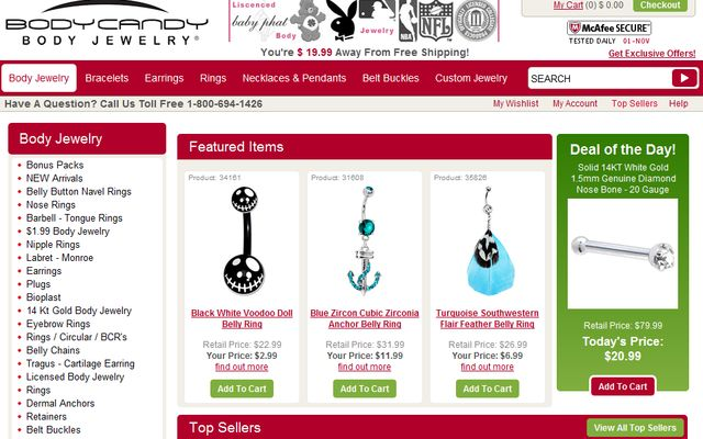 BodyCandy.Com - Body Jewelry and Accessories Store