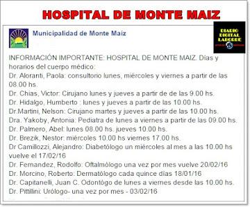 HOSPITAL MONTE MAÍZ