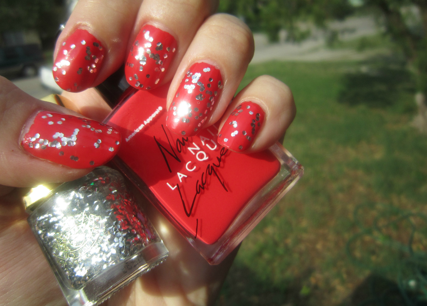 Concrete and Nail Polish: Juicy Couture Silver Glitter & American ...