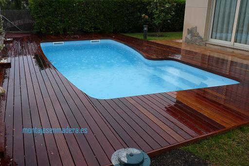 Decoraci n de exteriores tarima para piscina - Tarima para piscinas ...