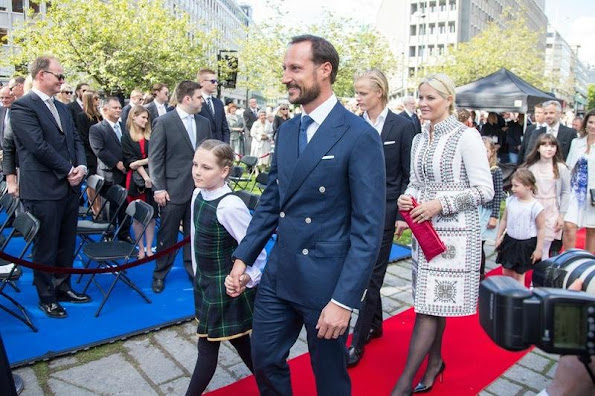 King Harald and Queen Sonja, Crown Prince Haakon and Crown Princess Mette Marit, Princess Ingrid Alexandra, Prince Sverre Magnus, Marius Borg Hoiby, Princess Astrid