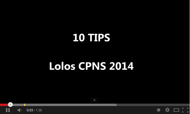 10 Tips dan Trik Jitu Lolos CPNS 2014