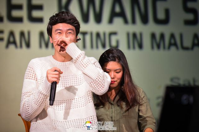 Kwang Soo is always shy after doing something funny Lee Kwang Soo Fan Meeting in Malaysia
