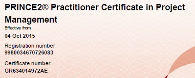 PRINCE2 - Practitioner