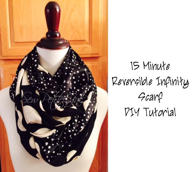 SewPetiteGal: 15-Minute Reversible Infinity Scarf DIY Tutorial