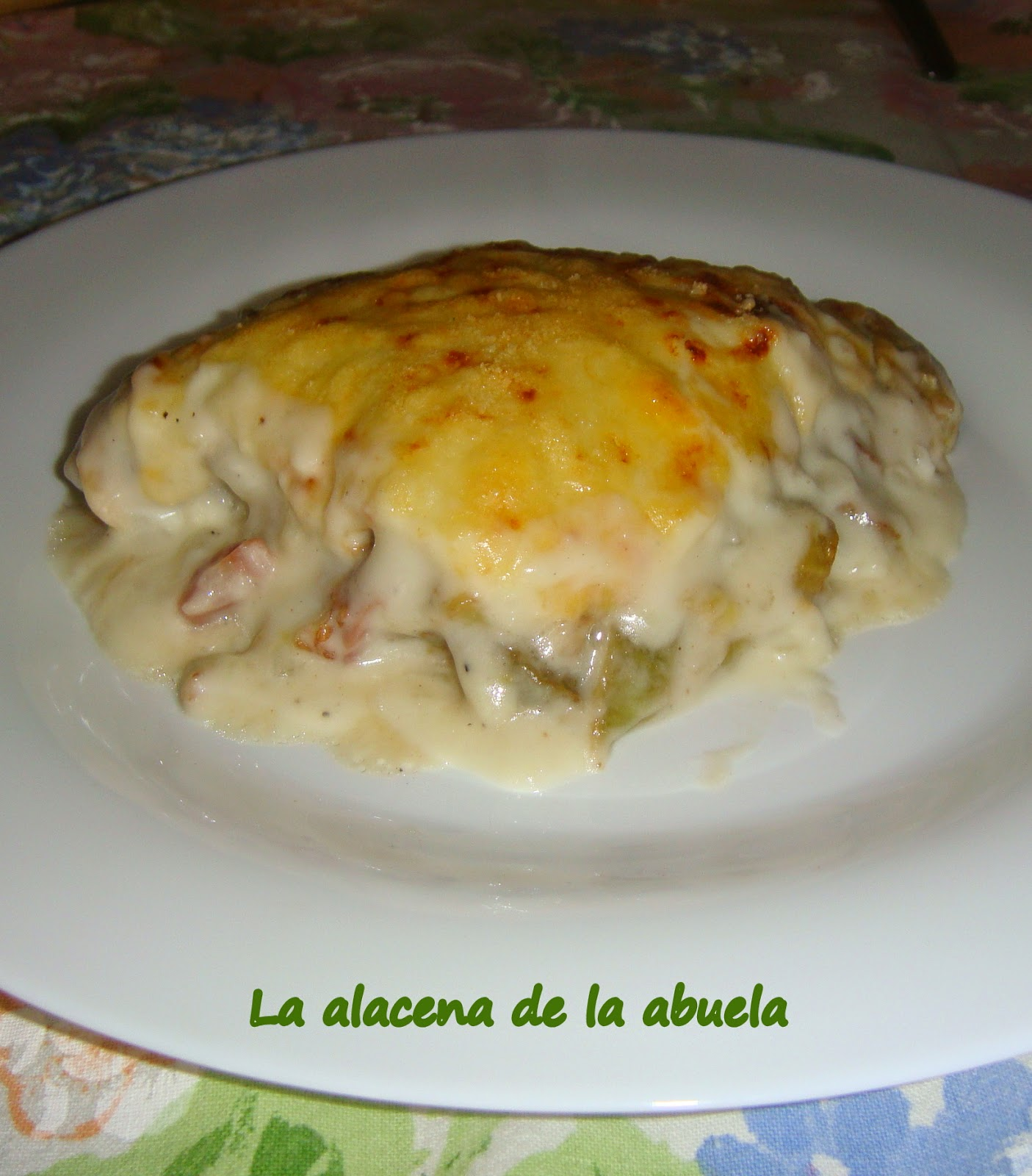 La alacena de la abuela carmen berenjenas a la crema for Cocina casera de la abuela