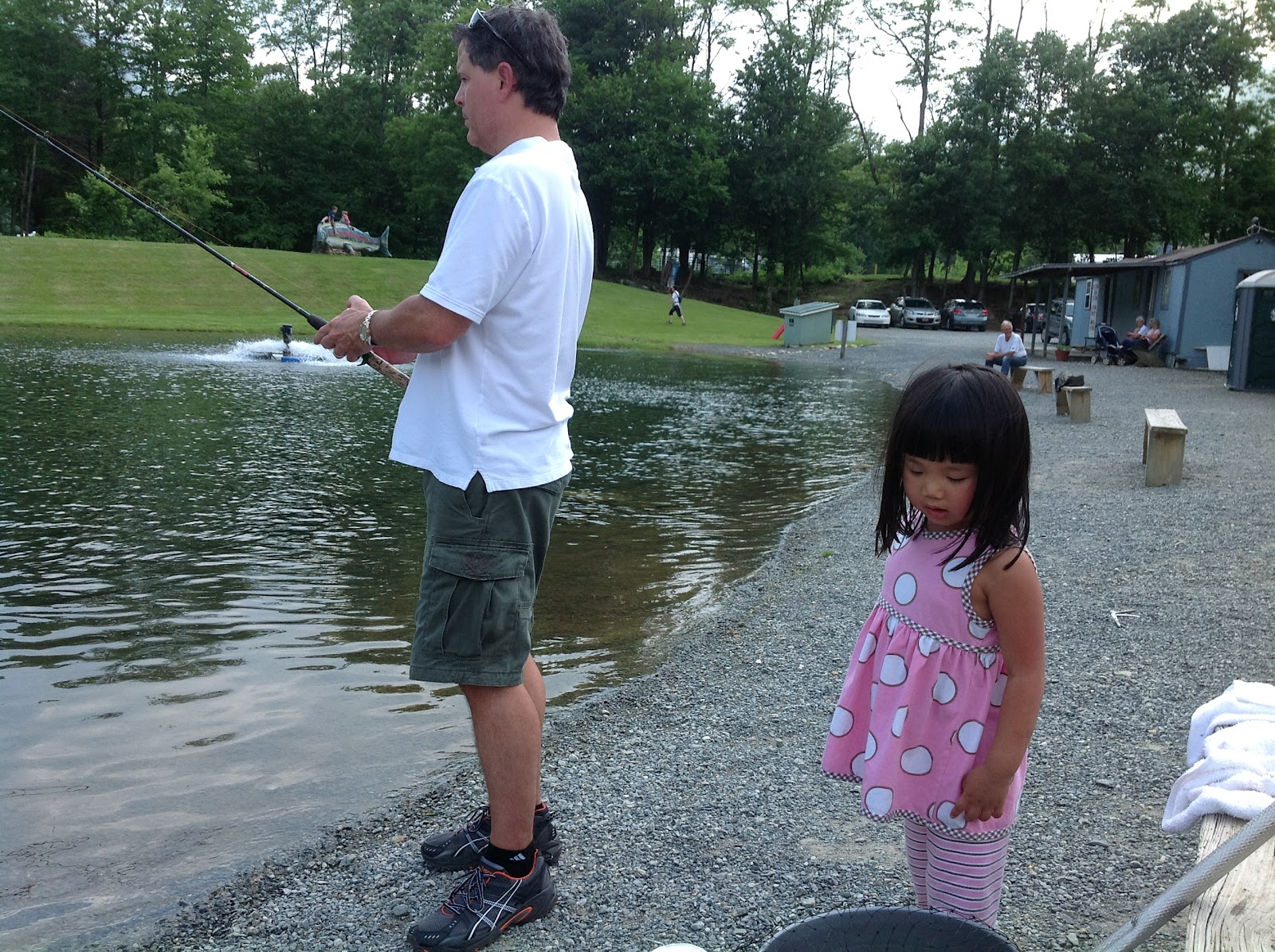 The sharps eden 39 s first camping trip in the nc mountains 2012 - Trout farming business family mountains ...